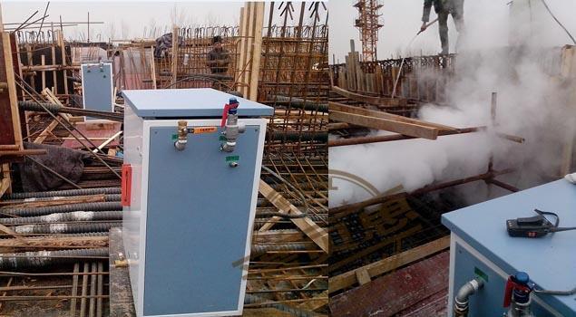 缓解冬季混凝土施工压力,使用电加热蒸汽发生器养护混凝土制品解放工期