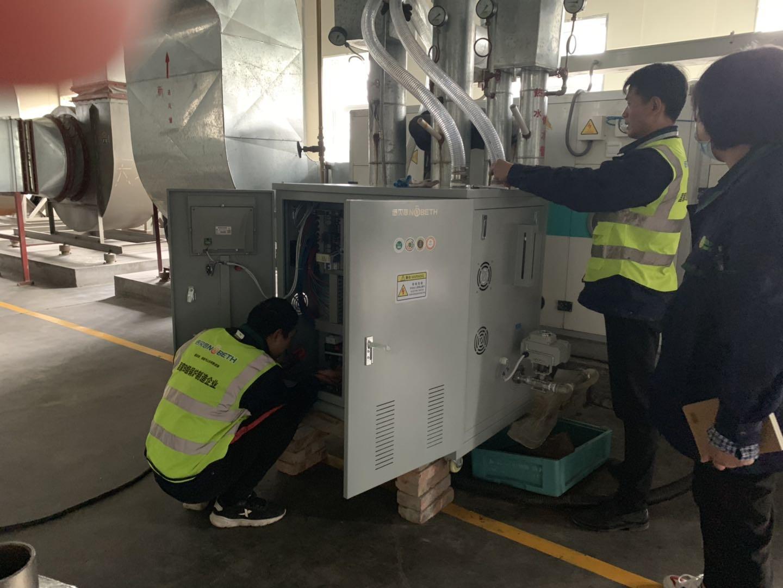 高精密航空发动机车间防止静电使用空间加温加湿蒸汽发生器
