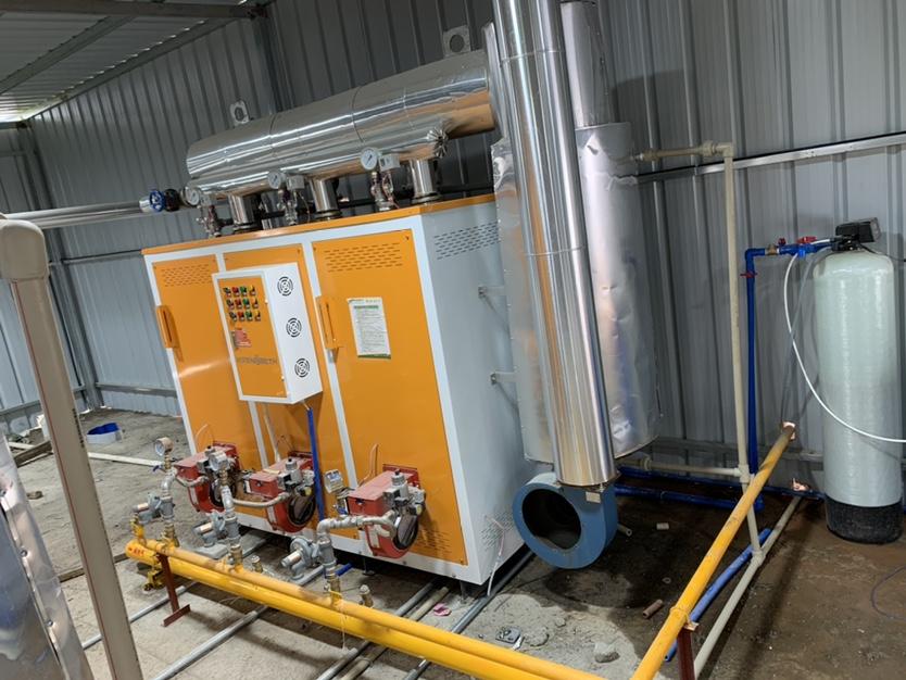 景观砖蒸汽养护工艺采用蒸汽发生器周期短强度高