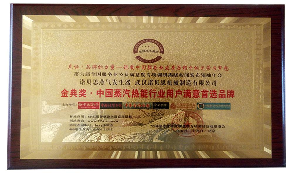 中国蒸汽发生器行业用户满意度首选品牌