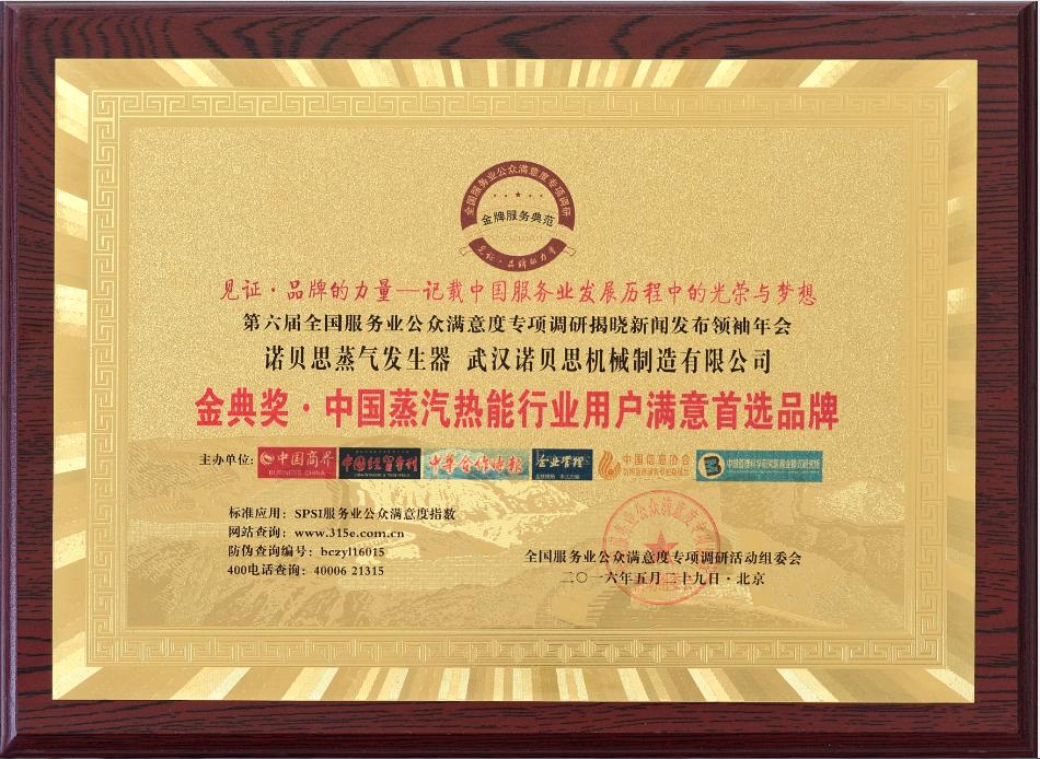 中国蒸汽行业用户首先品牌
