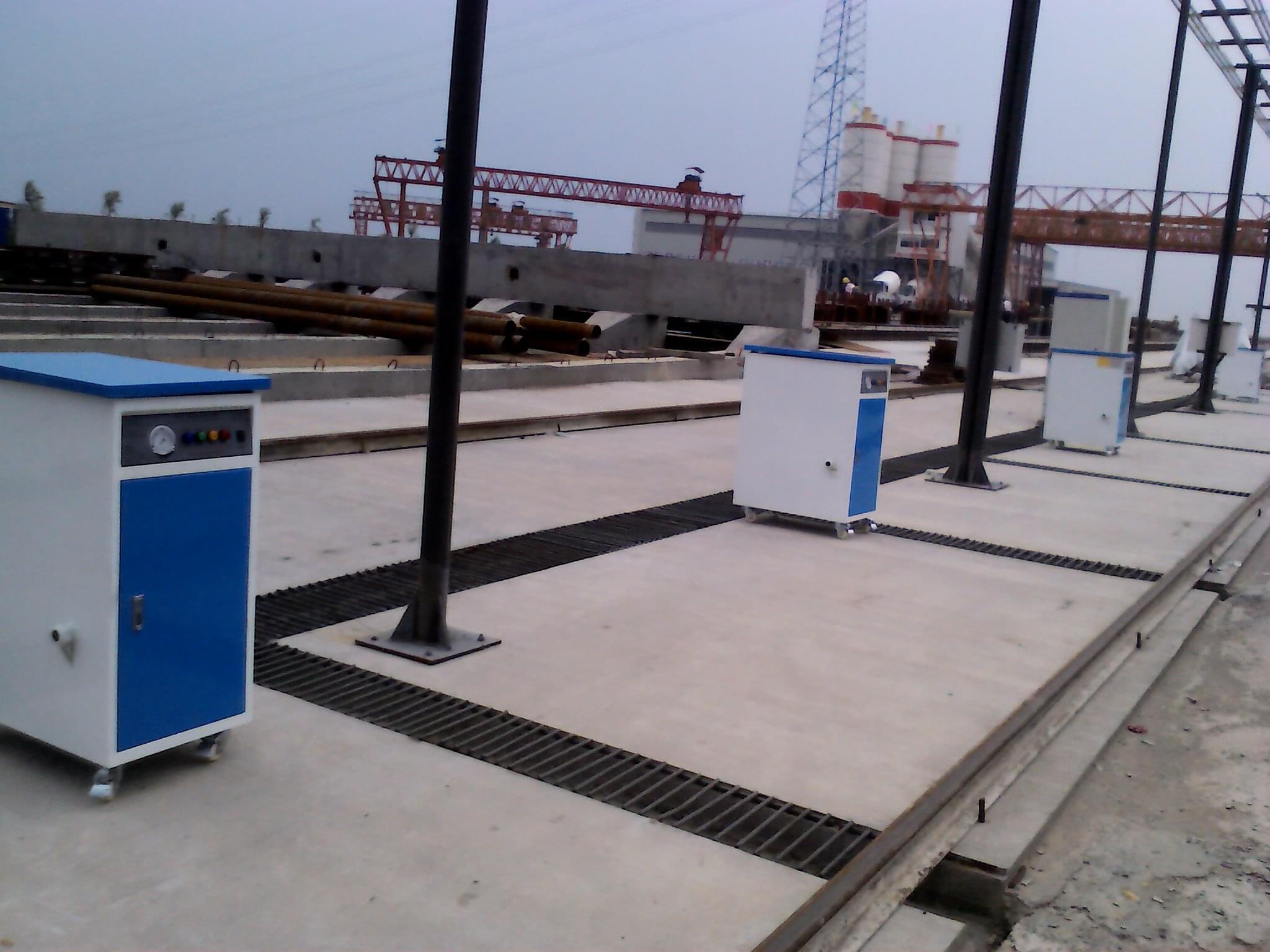 多标段混凝土预制养护,采用蒸汽发生器快速成型!