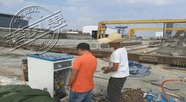 岳阳市公路桥梁基建公司购买蒸汽发生器用于箱梁养护