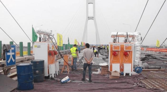 军山大桥8台桥梁养护200公斤燃油蒸汽发生器裂缝修复加工