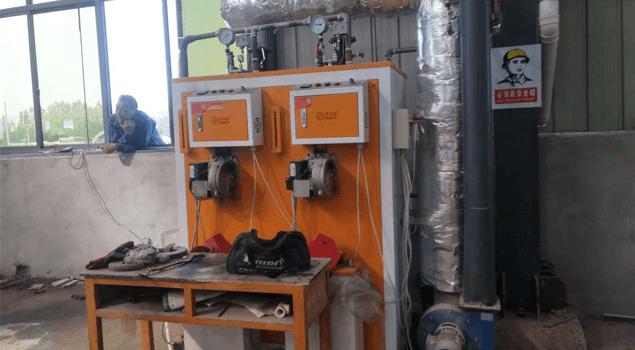 江苏恒通方涵建材购诺贝思0.2吨燃油蒸汽发生器用于水泥管道蒸养