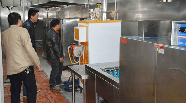 食品加工蒸汽发生器食堂消毒蒸煮案例