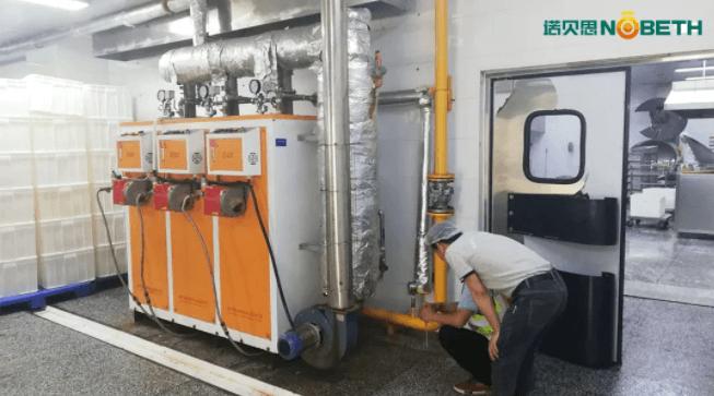 湖北食品加工蒸汽发生器配套洗箱机使用案例