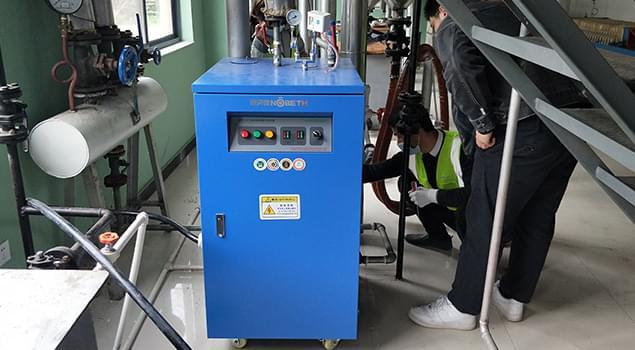 蒸汽发生器配套山茶油精炼机,压榨1吨茶籽,1小时温度可升80度
