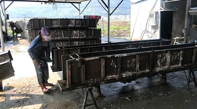 诺贝思48kw蒸汽发生器养护水泥管道,4小时实现脱模,1天可养护30根